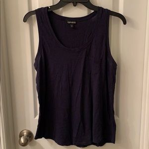 Crew Neck Muscle Tee with Pocket in Front